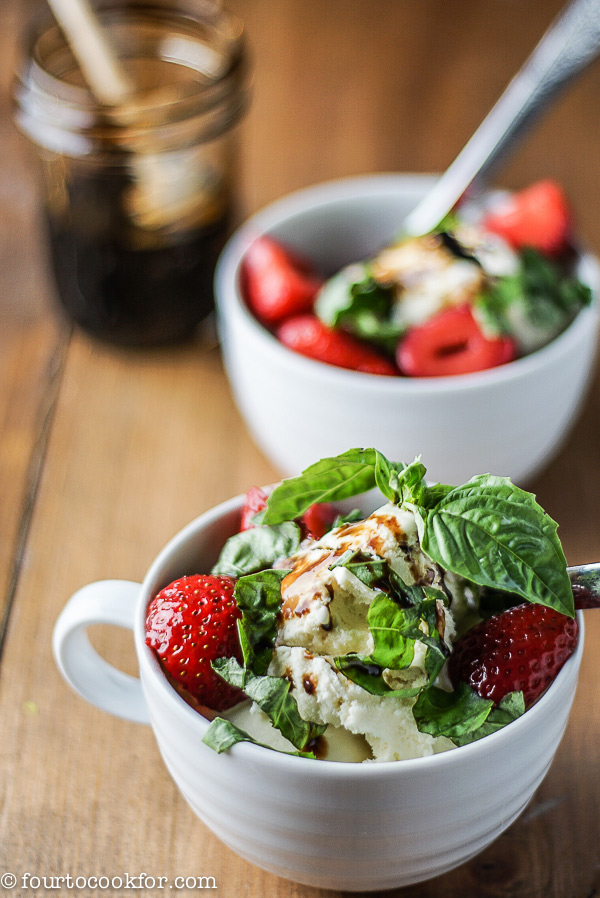 Basil Cake With Balsamic Strawberries